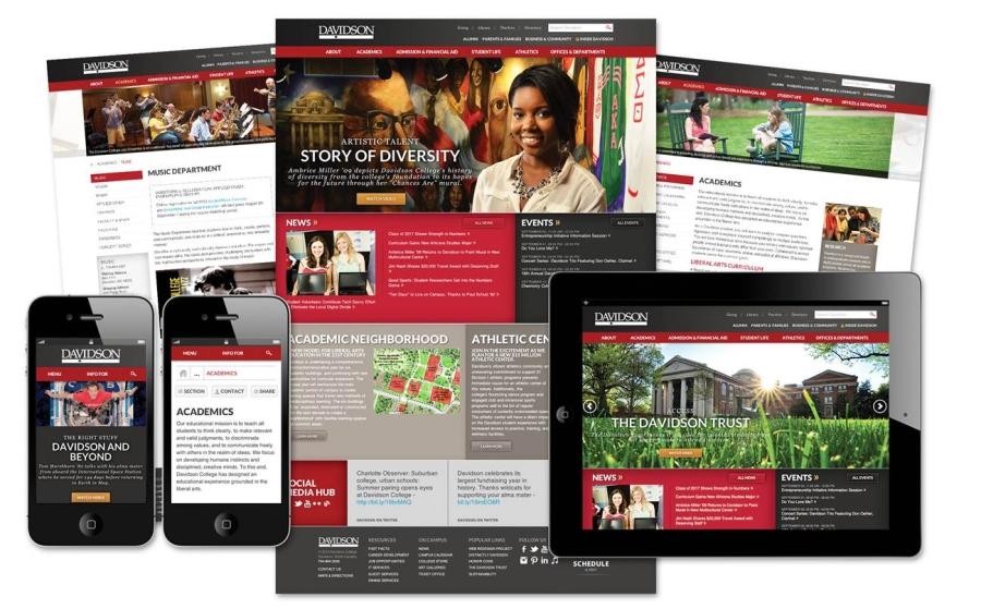 Redesigned Davidson Website pages